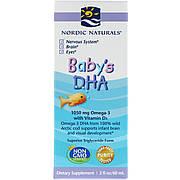 Рыбий жир (ДГК) для Детей с Витамином D3, Baby's DHA, with Vitamin D3, Nordic Naturals, 60 мл