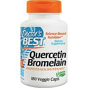 Кверцетин и Бромелайн, Quercetin Bromelain, Doctor's Best, 180 капсул