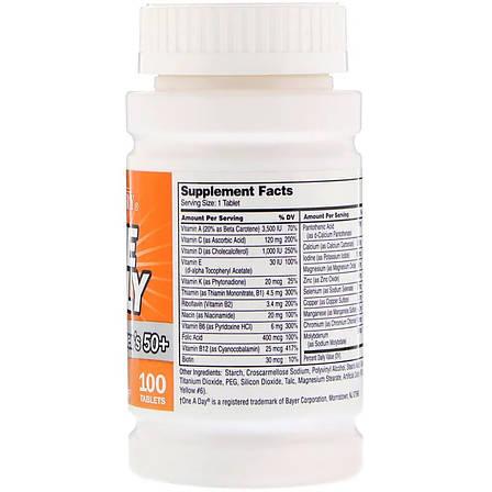Ежедневные Мультивитамины и Минералы для Женщин 50+, 21st Century, One Daily, 100 таблеток, фото 2