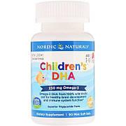 Рыбий жир (ДГК) для Детей, (3-6 лет), 250 мг, Вкус Клубники, Children's DHA, Nordic Naturals, 90 мини капсул