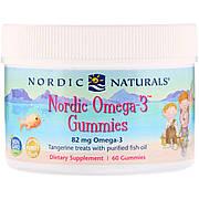Омега-3, Вкус Мандарина, Nordic Naturals, Omega-3, 60 жевательных конфет