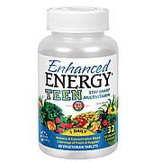 Комплекс Для Подростков, Памяти и Концентрации, Enhanced Energy, KAL, 60 Вегетарианских Таблеток