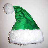 Новогодняя Шапка Детская Деда Мороза Колпак Санта Клауса Santa Claus Эльфа  Гнома зеленая
