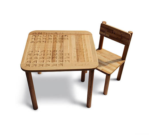 "Столик + стул ""Happy Абетка"" 04-BB1-2 бук ЭКО парта, фото 2"