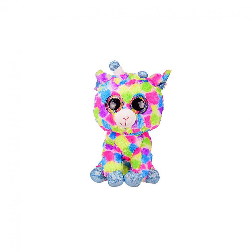 """М'яка іграшка """"Глазастики"""" BE1012 30 см (Різнокольоровий Жираф)"""