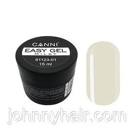 Гель для нарощування і зміцнення нігтів Canni Easy gel 01 15 мл