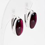 Срібні сережки з гранатом родоліт, 610СРГ, фото 2