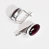 Срібні сережки з гранатом родоліт, 610СРГ, фото 3