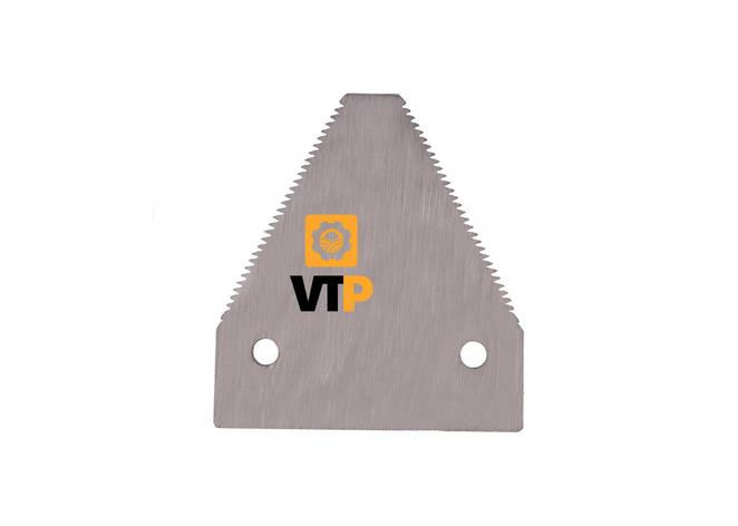 Сегмент ножа Claas 611203.1Р жатки Z=29 (дрібна насічка), фото 2
