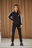 Спортивный костюм Adidas Женский кофта штаны лампасы весна/лето Реплика + ПОДАРОК (Размер S) Красный