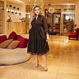 Жіночий літній сарафан вільного фасону тканина софт розмір: 50-52,54-56,58-60, фото 6
