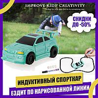 Индуктивная (ездит по линии) машинка Спорткар Inductive Car Зеленый