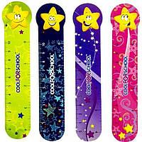 """Закладка пластиковая для книг CoolForSchool """"Stars"""" CF69102 4 шт."""