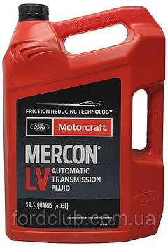 Для коробки передач Ford Mustang 2011-2017; Motorcraft Mercon LV 4,73 л