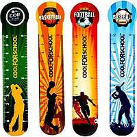 """Закладка пластиковая для книг CoolForSchool """"Sport"""" CF69104 4 шт."""