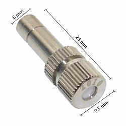 Форсунка из нержавеющей стали для тумана с керамичекским клапаном 0,2 мм, под разъем 6 мм. 2020