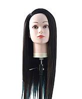 Манекен головы со штативом Брюнет. Волосы 70 см.