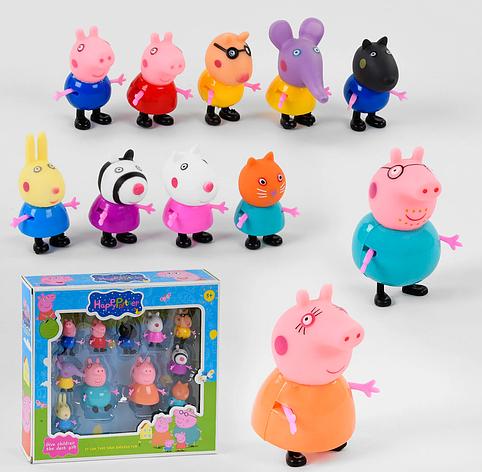 Набор фигурок Свинка Пеппа PP 605-11 персонажи мультфильма, фото 2