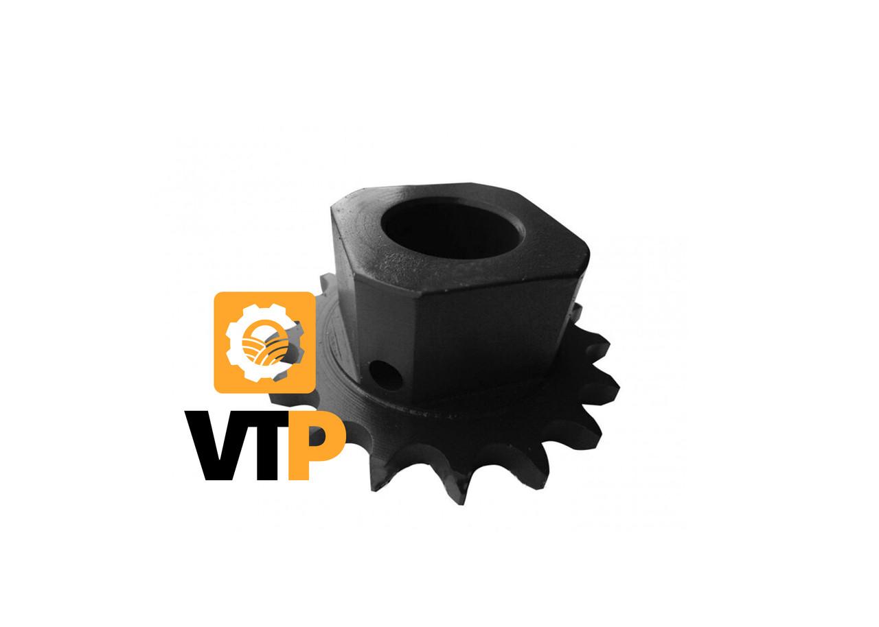 Зірочка Claas 735949.2 В Z=17 d30 приводу зернового елеватора (стальова)