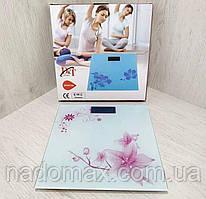 Весы напольные электронные стеклянные до 180кг DT