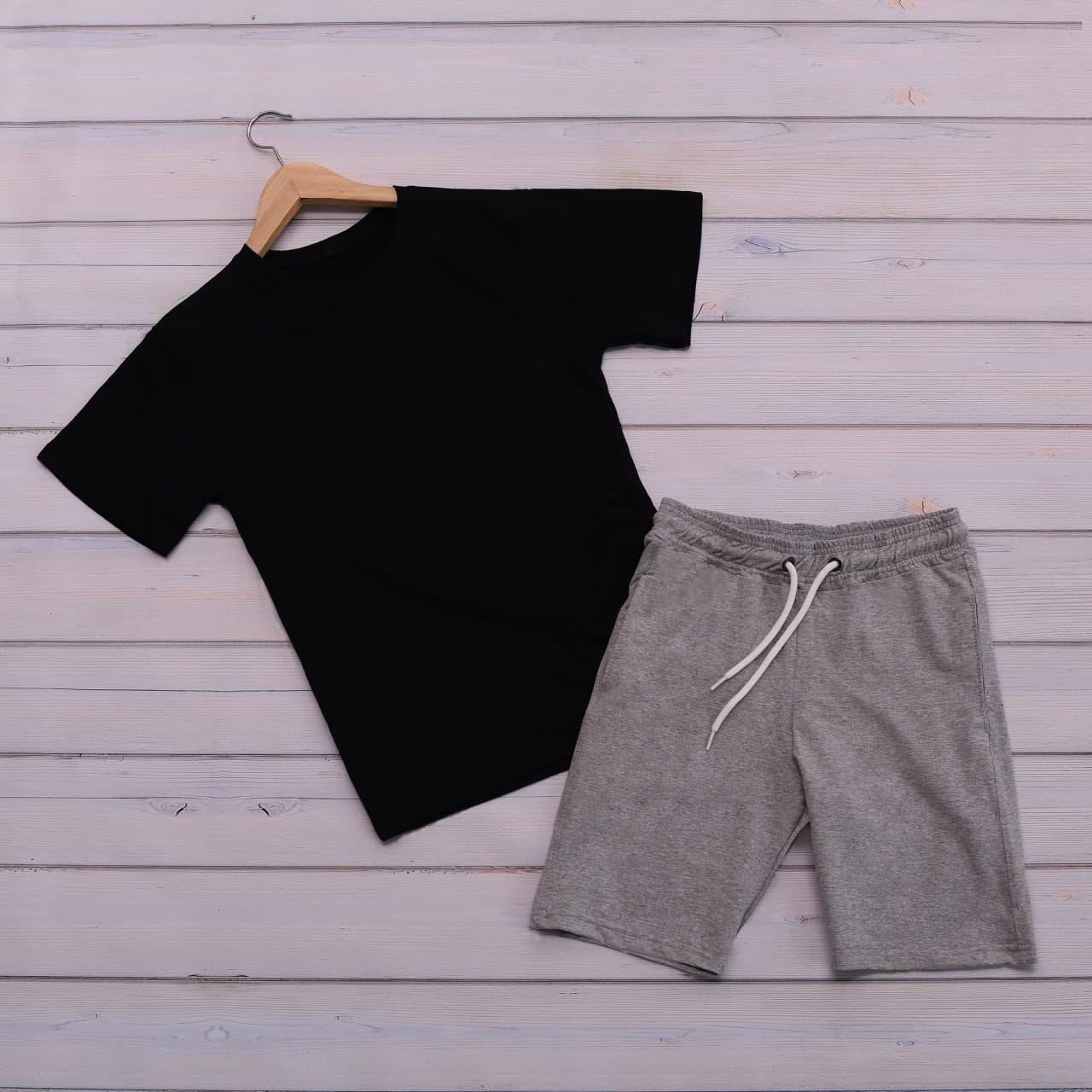 Чоловічий річний комплект футболка шорти, літній чоловічий спортивний костюм, комплект чоловічий повсякденний