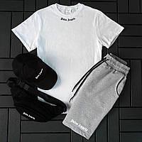 Летний мужской спортивный костюм с шортами+футболка Palm Angels , Мужской комплект футболка шорты Турция