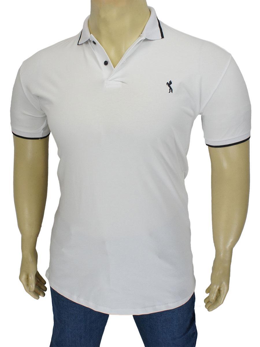 Белая мужская тенниска Class Club 627 B White