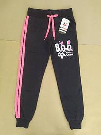 Спортивные брюки на девочку 11-12 лет чёрные Турция
