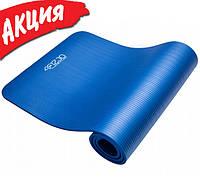 Коврик для йоги и фитнеса 4FIZJO NBR 1 см Спортивный каремат для гимнастики и растяжки Фитнес мат для пилатеса
