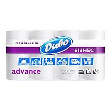 Туалетная бумага Дыво Аdvance 16 рулонов трехслойная 150 отрывов белая