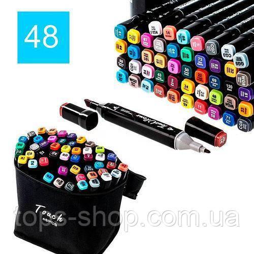 Набір скетч-маркерів 48 шт. Touch Raven для малювання двосторонні професійні фломастери для художника