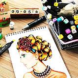 Набір скетч-маркерів 48 шт. Touch Raven для малювання двосторонні професійні фломастери для художника, фото 8