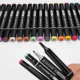 Набір скетч-маркерів 48 шт. Touch Raven для малювання двосторонні професійні фломастери для художника, фото 10