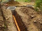 Монтаж системы канализации на участке в Киеве и области