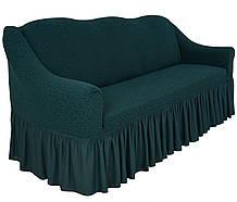 Чехол натяжной  на диван и 2 кресла из буклированного жаккарда MILANO антрацит НОВИНКА!