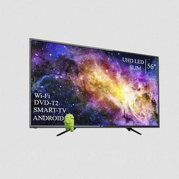 "Телевізор DEX 56"" Smart-TV ULTRA HD T2 USB Android 7.0 Гарантія 1 РІК"