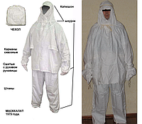 Маскхалат зимний, белого цвета, (рост 1), фото 1