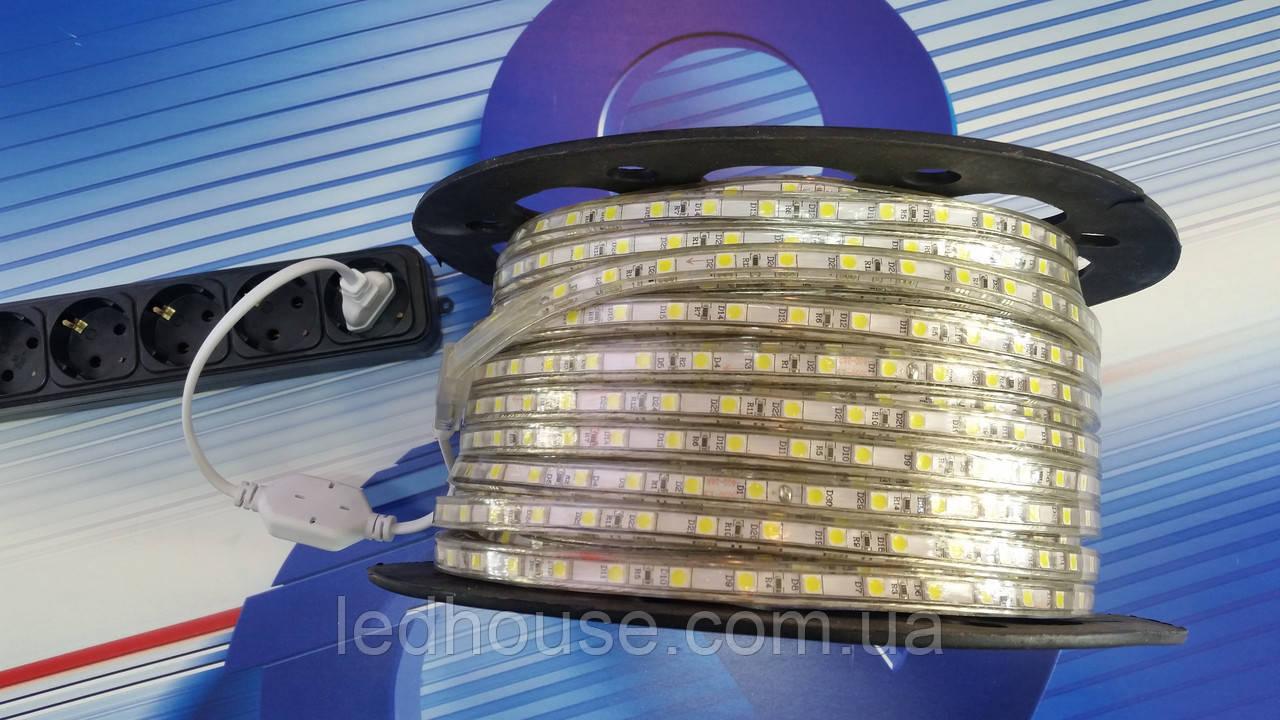 Светодиодная лента от 220V SMD 5050 60 IP68 Белая
