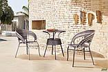 Садове крісло AMF Catalina ротанг сірий для кафе на терасу, фото 3