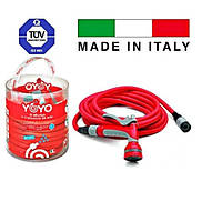 Шланг поливочный растягивающийся 30 м, с аксессуарами Fitt YOYO Италия, фото 1