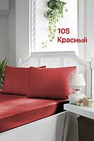Простирадло сатинова на резинці 160х200см і 2 наволочки First choice Туреччина червона, фото 1