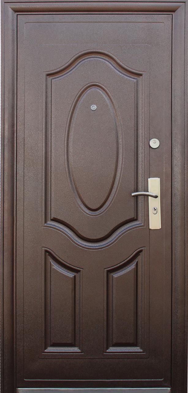 Китайские металлические входные двери ТР-С 121 утепленные минватой наружные на улицу