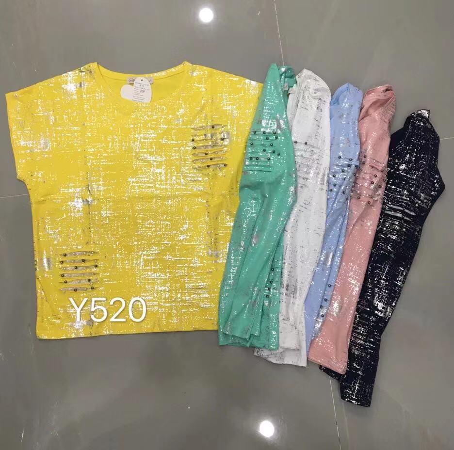 Летняя блестящая футболка батал 46-52 (в расцветках)