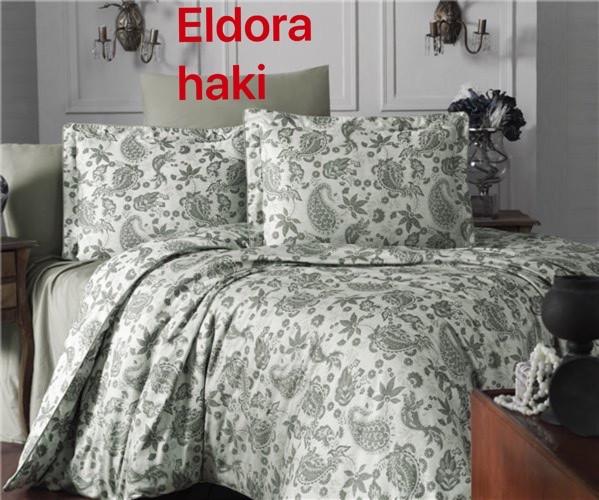 Постільна Білизна Сатин, Жаккард Євро Altinbasak Eldora Haki