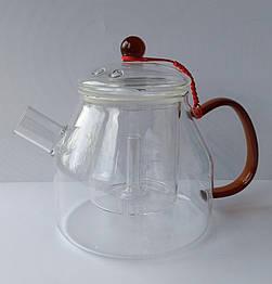 Стеклянный боросиликатный чайник с фильтром 1250 мл