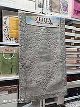 Коврики для ванной комнаты хлопковые Zerya 2 предмета Турция серый