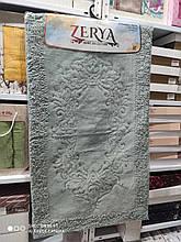 Коврики для ванной комнаты хлопковые Zerya 2 предмета Турция оливковый