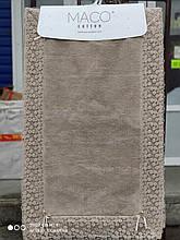 Набор ковриков люкс с кружевом для ванной комнаты Maco Cotton 2 предмета Турция бежевые