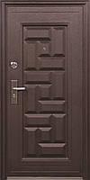 Металеві вхідні двері ТР-З 103 утеплені мінватою зовнішні на вулицю. Китай