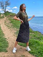 Женская летняя юбка в горошек